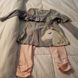 NWT- mudpie unicorn outfit